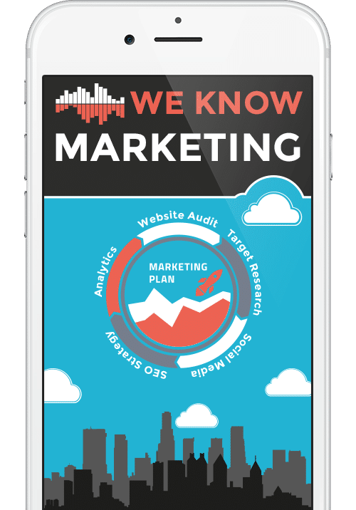 Phone Mockup of We Know Marketing