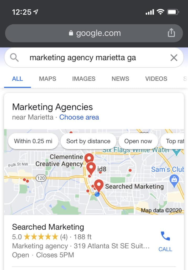 Google Map Search For Your Business | Searched Marketing
